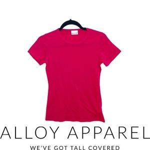 ALLOY Red Crew Neck T-Shirt basic Red Tee EUC S